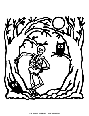 Skeleton Coloring Page Free Printable Pdf From Primarygames