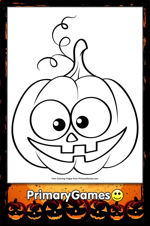 Cute Jack O Lantern Coloring Page Printable Halloween
