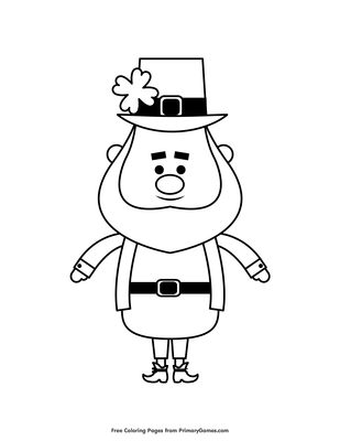 Leprechaun Coloring Page Free Printable Pdf From Primarygames
