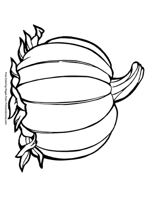 Pumpkin Coloring Page Free Printable Pdf From Primarygames