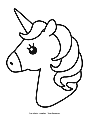 Cute Unicorn Coloring Page Free Printable Pdf From Primarygames