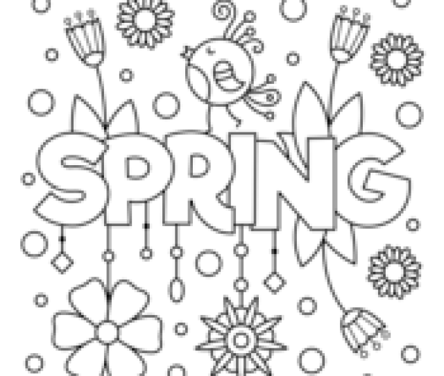 Spring Coloring Pages  E  A Free Printable Pdf From Primarygames