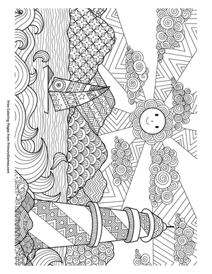 Sailboat And Lighthouse Coloring Page Free Printable Pdf From Primarygames