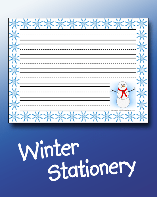 Winter Stationery PrimaryGames Play Free Online Games