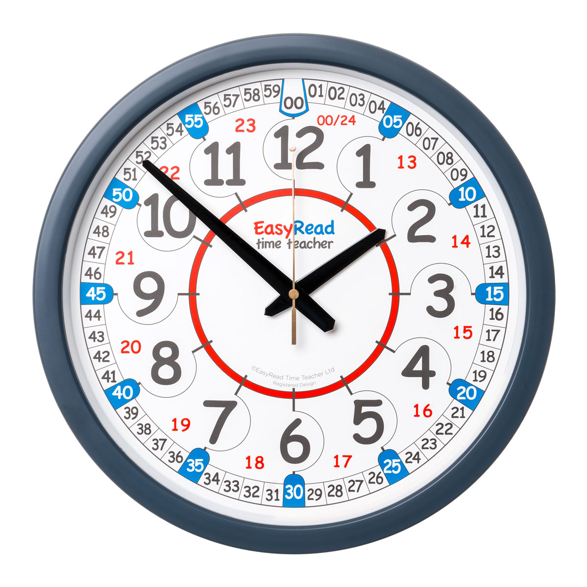 Easy Read Time Teacher Classroom Wall Clock