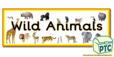 Wild Animals Display Heading Classroom Banner Primary