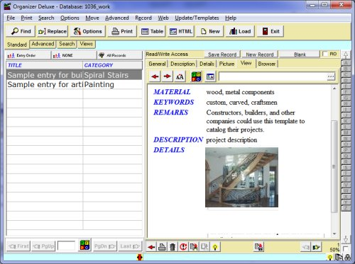 Art Inventory Template  free work art catalog database