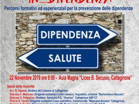 Caltagirone, conclusione del progetto sulle dipendenze tra i giovani: 22 novembre conferenza stampa finale per il progetto di prevenzione