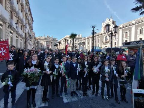 Caltagirone, piccoli amministratori alla festa di Sant'Agata