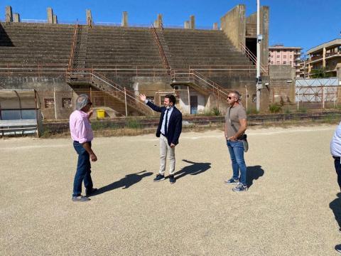 Foto sopralluogo stadio Caltagirone