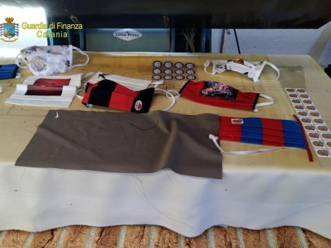 Sequestro di mascherine false per bambini a Bronte, cronaca Catania
