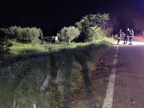 incidente stradale provincia di Trapani, strada tra Castelvetrano e Marinella di Selinunte