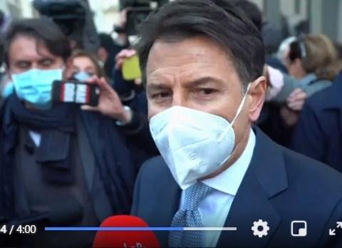 Premier Giuseppe Conte dimissioni
