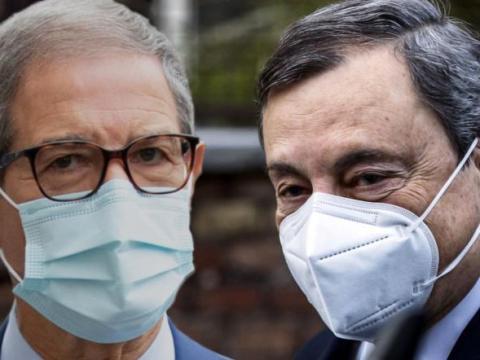 Nello Musumeci e Mario Draghi
