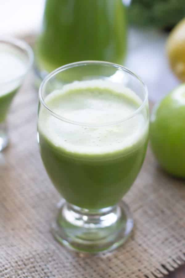 cup of green juice