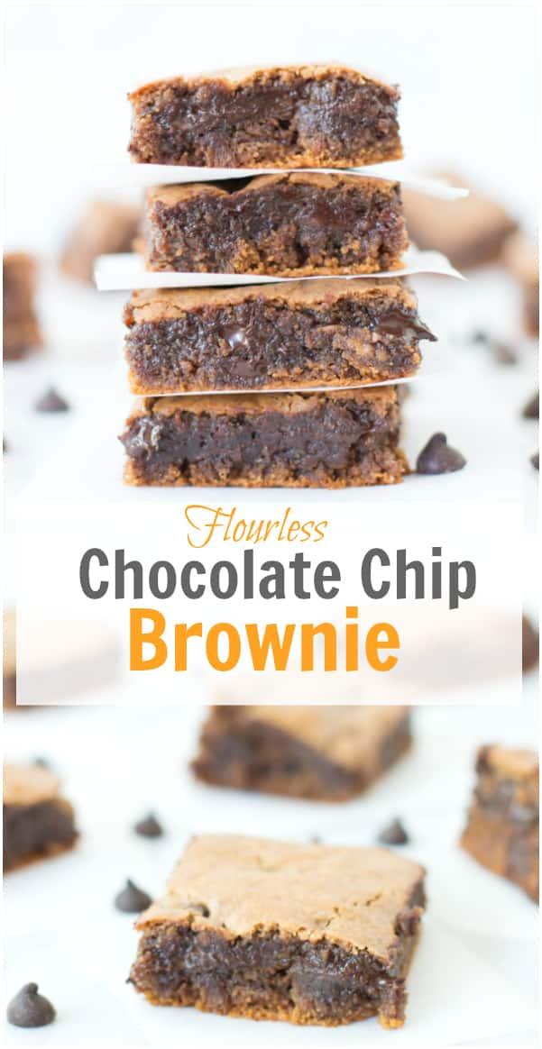 flourless chocolate chip brownie