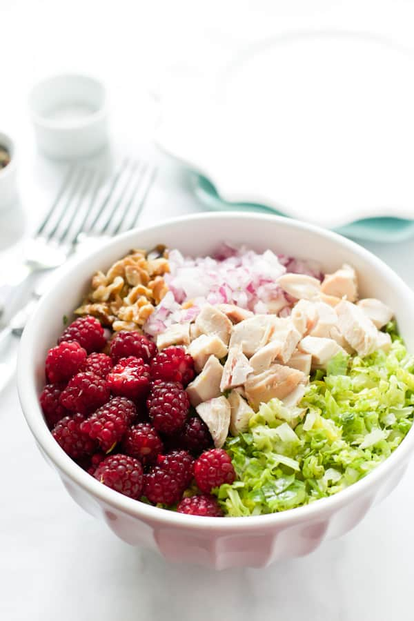 Bowl of Chopped Salad with Tayberries