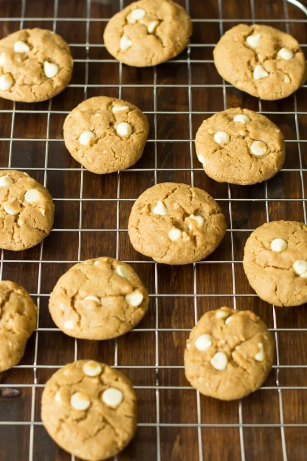 Peanut Butter Chocolate White Chip Cookies