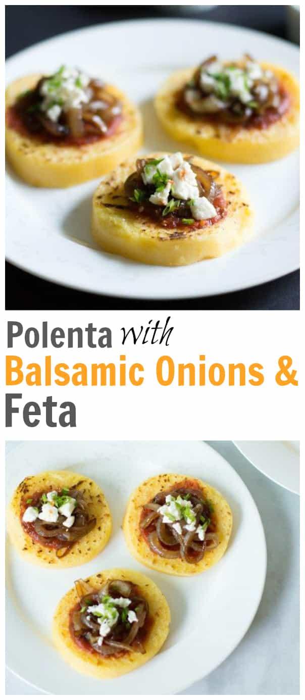Polenta with Balsamic Onions & Feta
