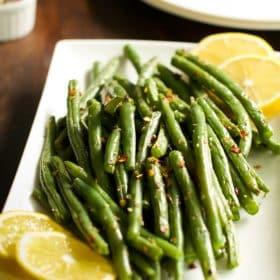 How to make crispy baked green beans Primavera Kitchen