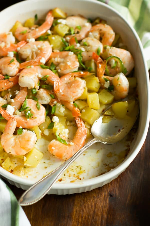 Roasted Potato with lemon shrimp-7