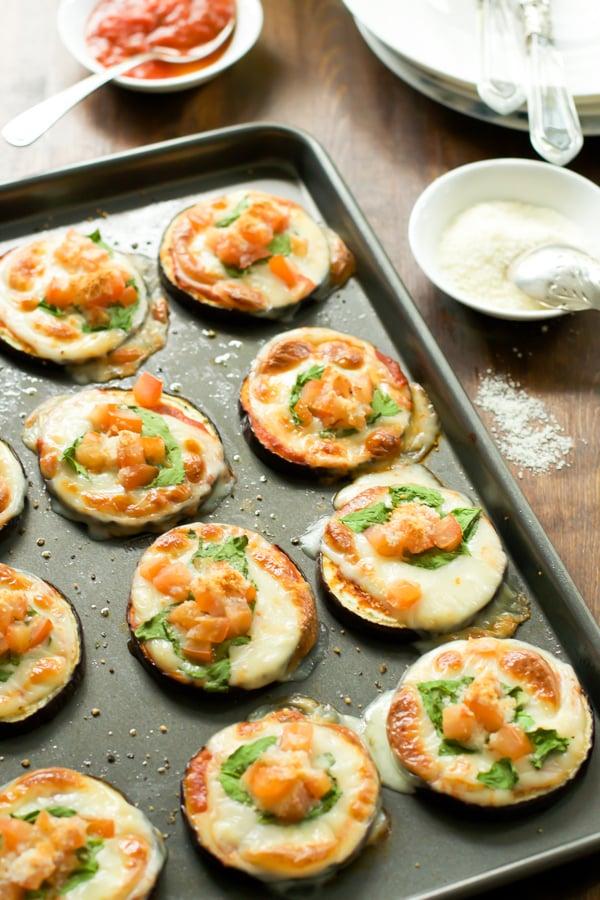 Eggplant Pizza Bites Primavera Kitchen Recipe