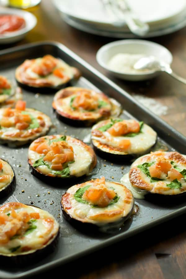 Eggplant Pizza Bites Recipe Primavera Kitchen
