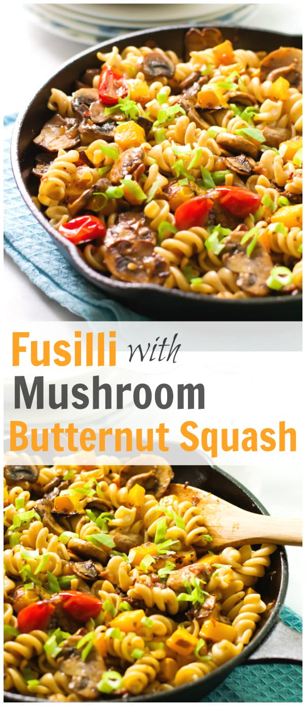 Fusilli with Mushroom Butternut Squash