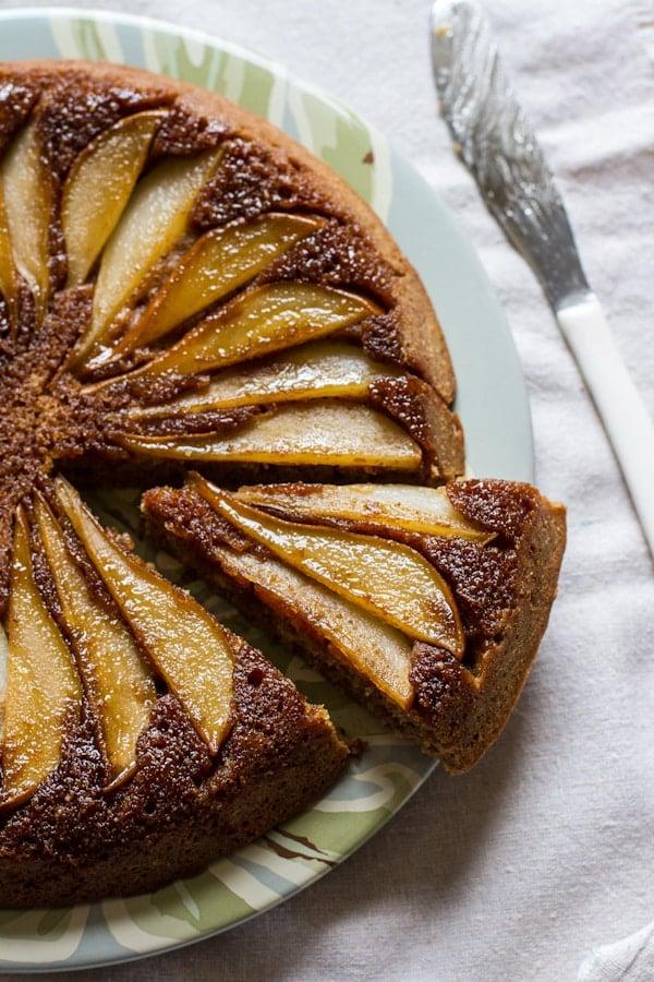 Gluten-Free Buttermilk Pear Upside-Down Cake
