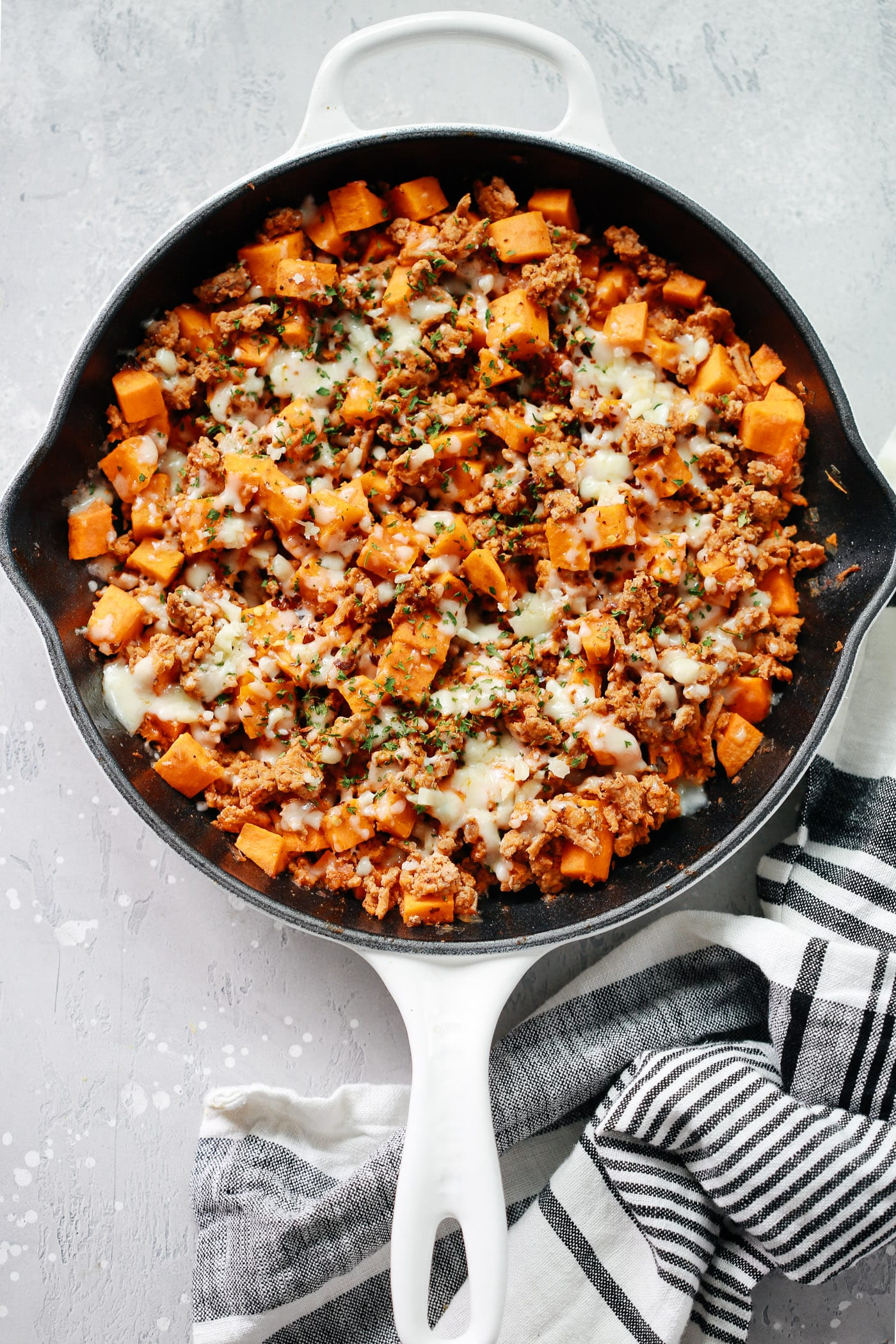 Ground Turkey Sweet Potato Skillet - a delicious gluten free skillet dish