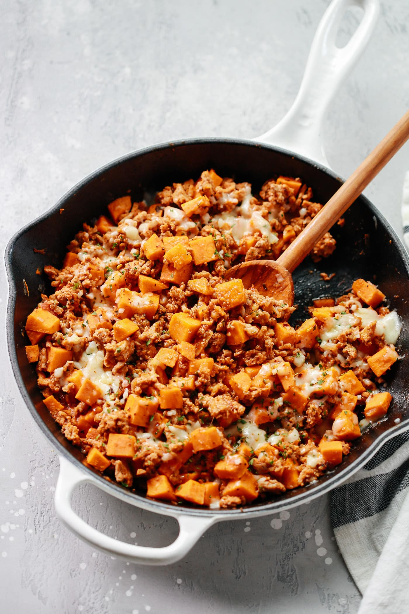 Ground Turkey Sweet Potato Skillet.