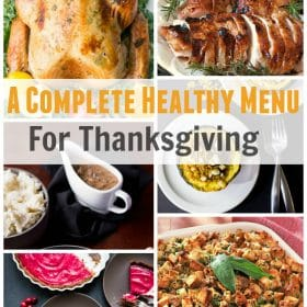 healthy thanksgiving complete menu plan