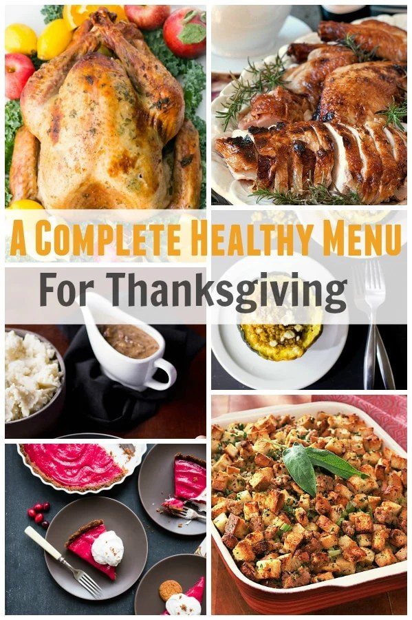 healthy thanksgiving complete menu plan