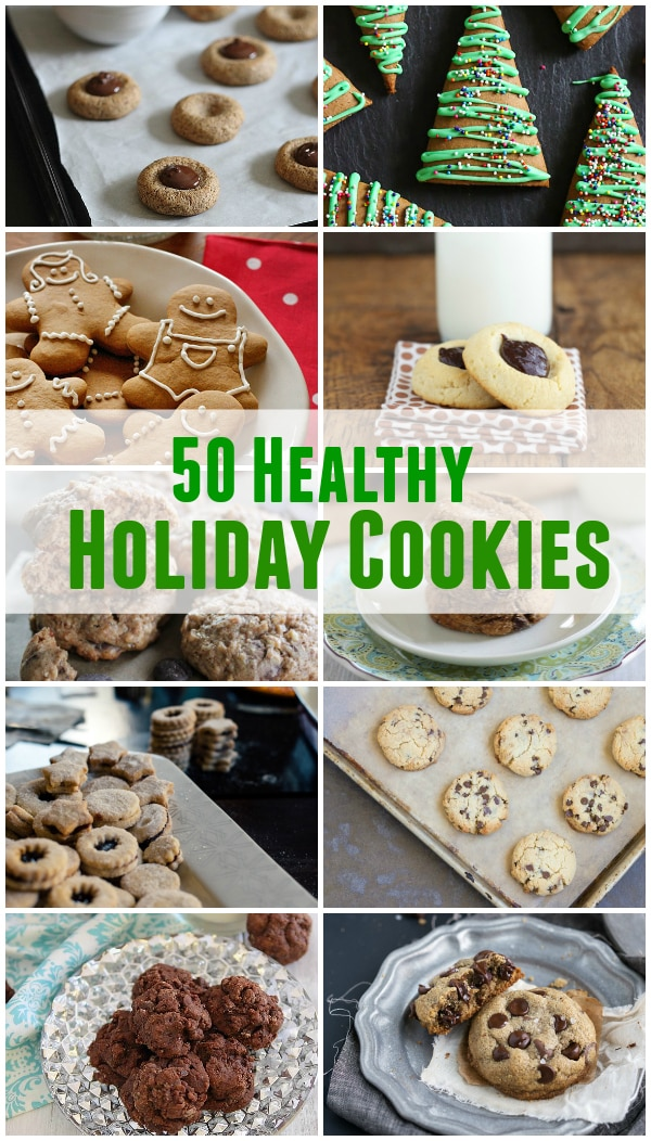 50 healthy holiday cookies pinterest image.