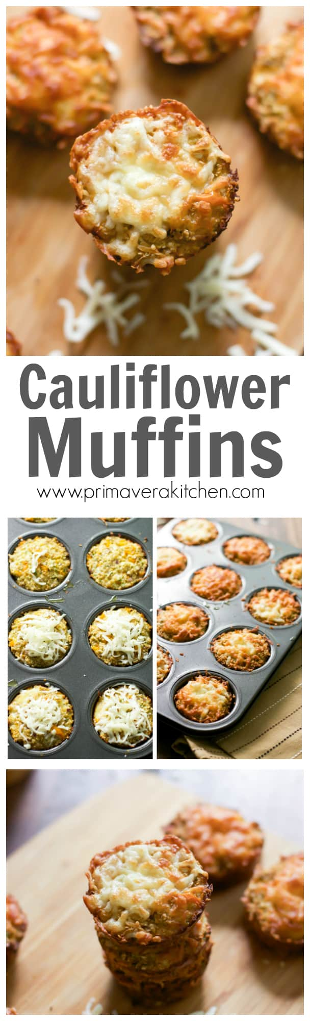 Cauliflower muffins - These Caulflower Muffins are gluten-free, low-carb and high in fiber. They are perfect side dish, appetizer or even a delicious on-the-go quick snack!!