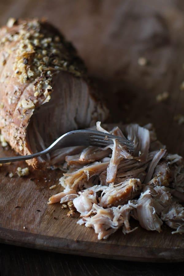 Slow Cooker Crock pot cider chai pulled pork hero Primavera Kitchen Recipe
