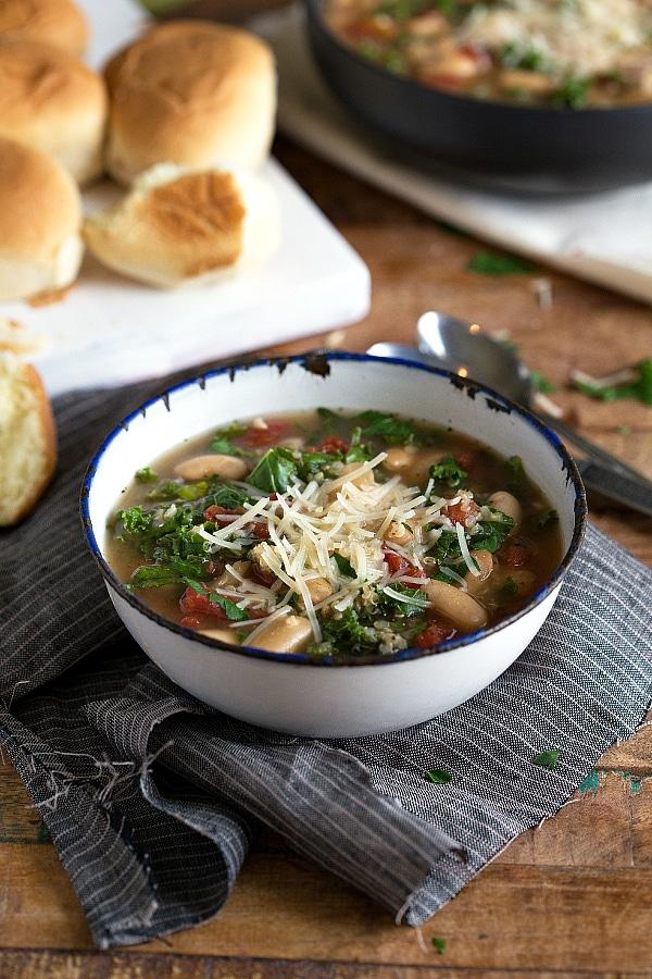 slow cooker quinoa white bean and kale soup Primavera Kitchen Recipe
