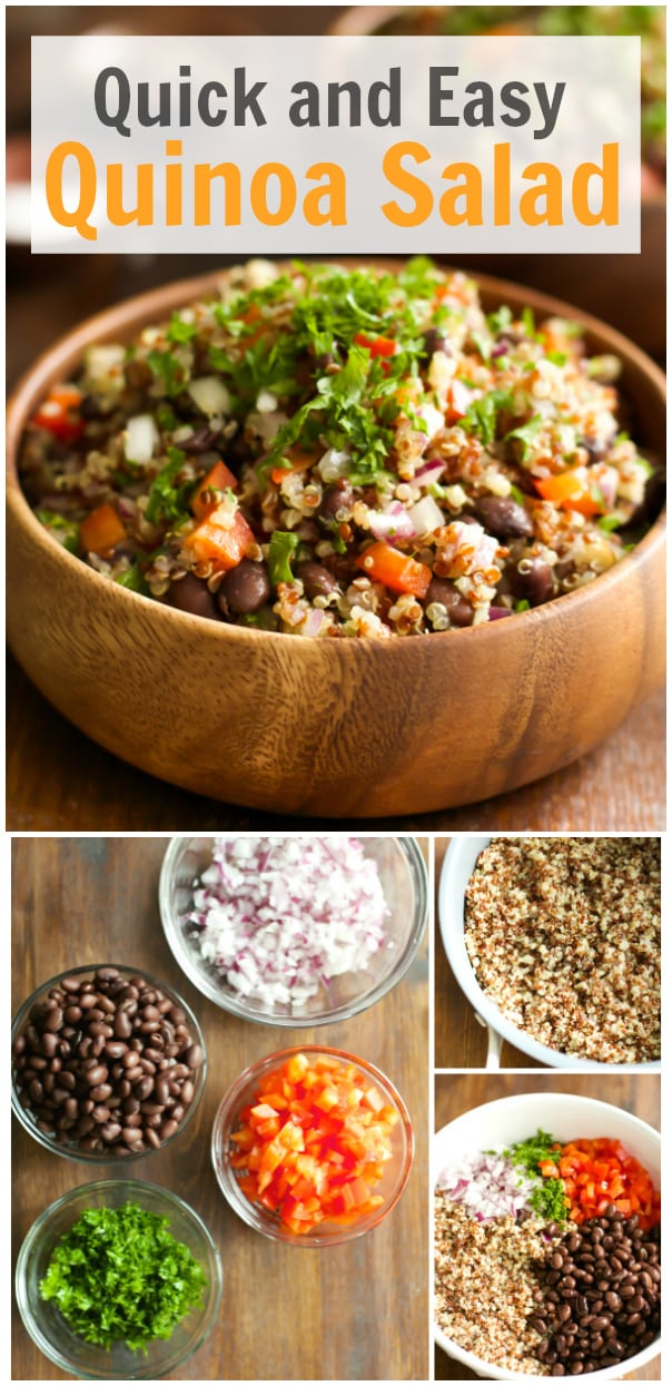 Quick and Easy quinoa salad