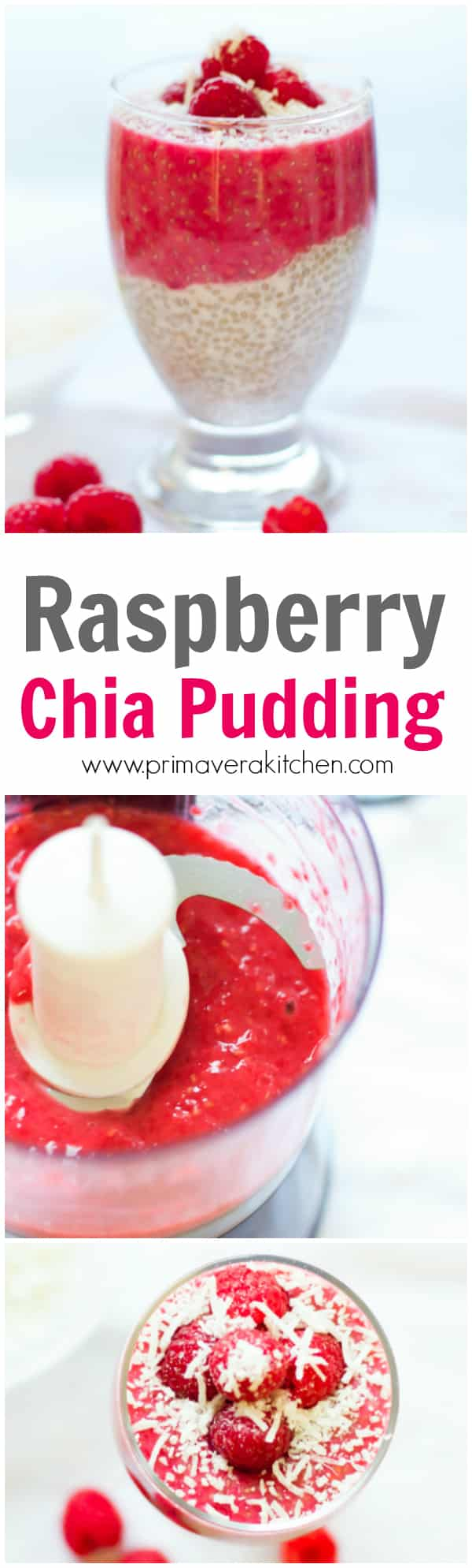 Raspberry Chia Pudding - This delicious, vegan and gluten free Raspberry Chia Pudding is a healthy breakfast recipe loaded with antioxidants, fiber, high quality protein and omega-3.