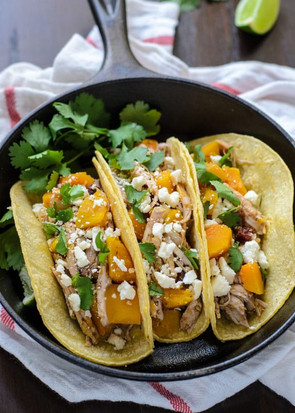 Slow Cooker Butternut Squash and Pulled Pork Tacos Primavera Kitchen Recipe