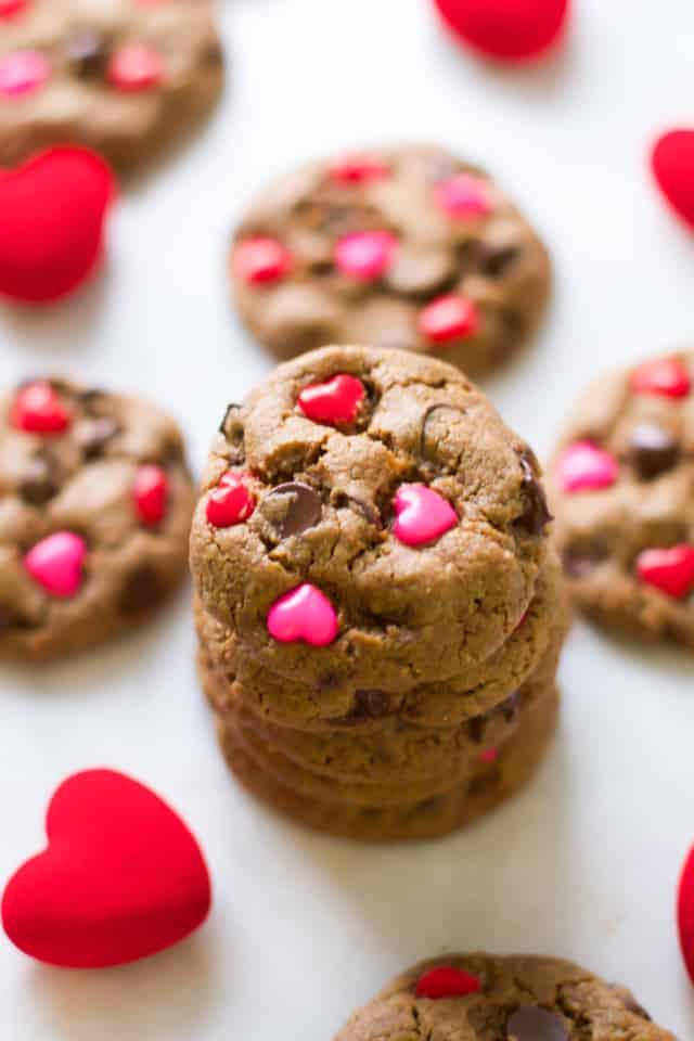 Valentine's Day Gluten Free Chocolate Chip Cookies - primaverakitchen.com