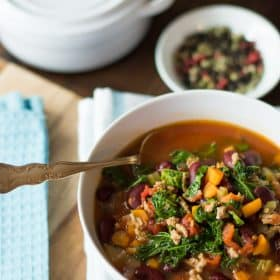 extra-lean turkey chill with kale