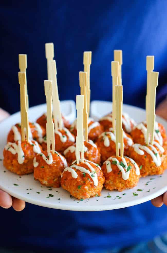 slow cooker buffalo chicken meatball Primavera Kitchen Recipe