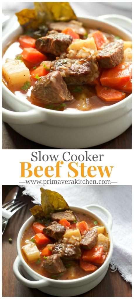 Healthier Slow Cooker Beef Stew