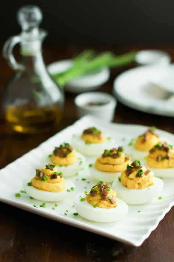 Lentil Deviled Eggs