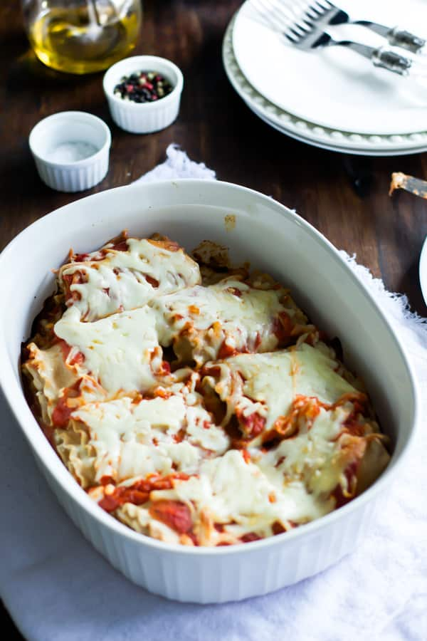 Skinny Lasagna Rolls primavera kitchen recipe