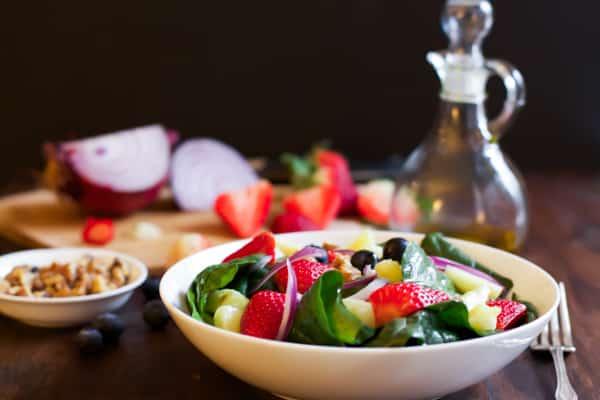 Fruit Green Salad.