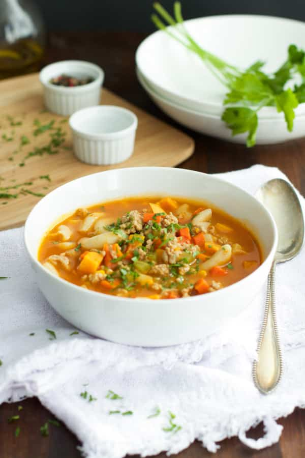 Ground Turkey Pasta Soup Primavera kitchen Recipe
