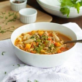 Ground Turkey Pasta Soup