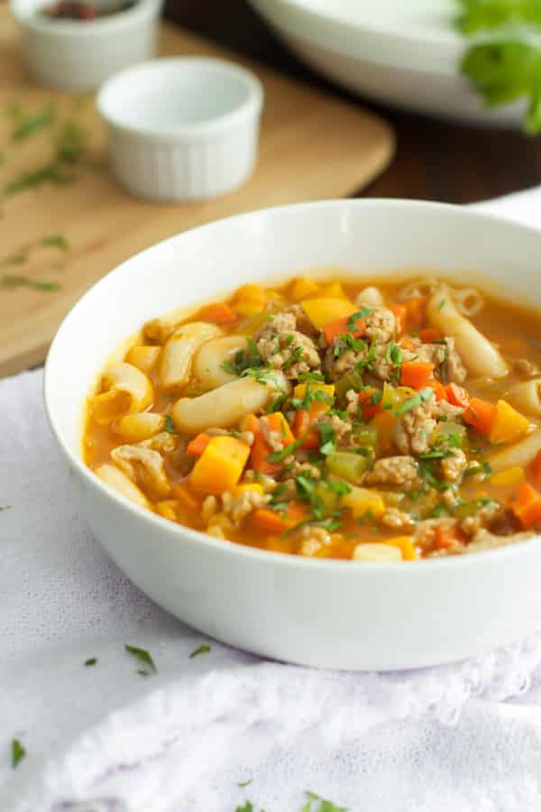 Ground Turkey Pasta Soup-4-2